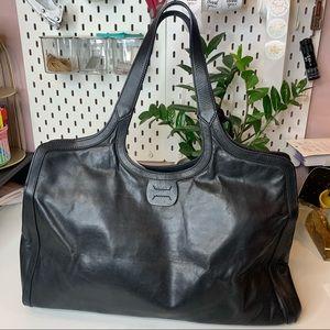 Stuart Weizman leather slouch shoulder bag